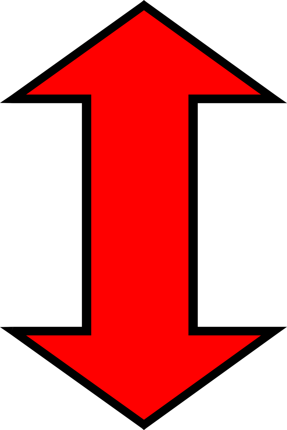 Illustration of a red up and down arrow : Free Stock Photo