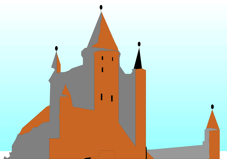 Illustration of Alcazar castle in Spain : Free Stock Photo