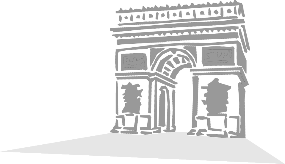 Illustration of the Arc de Triomphe : Free Stock Photo