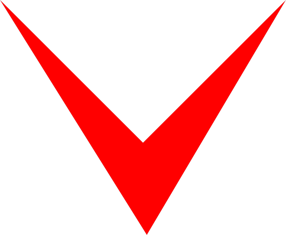 Illustration of a red down arrow : Free Stock Photo