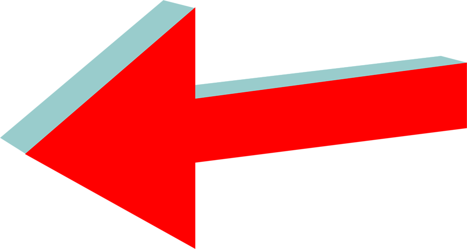 Illustration of a 3d left red arrow : Free Stock Photo
