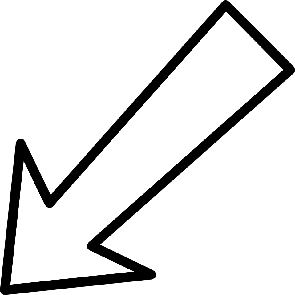 Free Stock Photo: Illustration of a white left diagonal arrow.