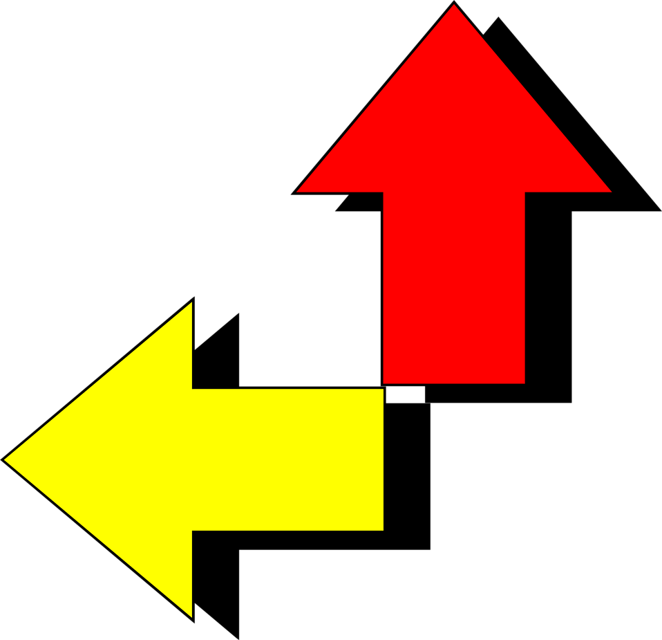 Illustration of red and yellow arrows : Free Stock Photo