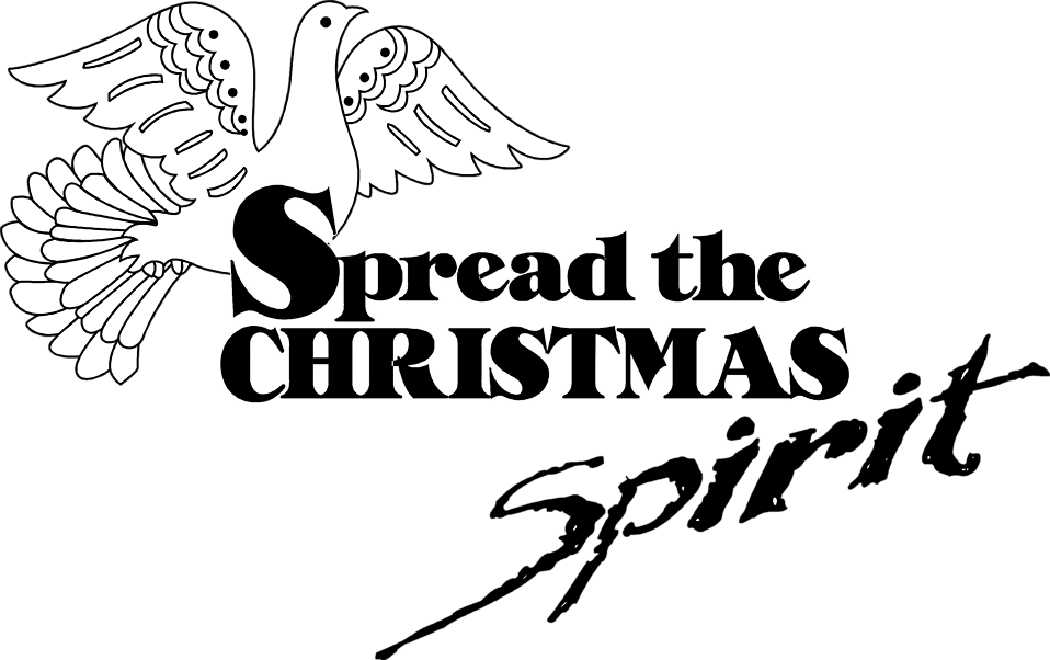 Illustration of a dove and a Christmas slogan : Free Stock Photo