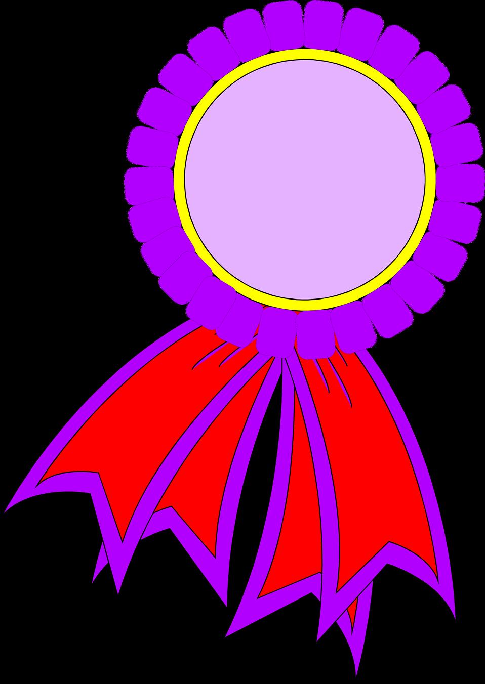 Award | Free Stock Photo | Illustrated blank prize ribbon ...