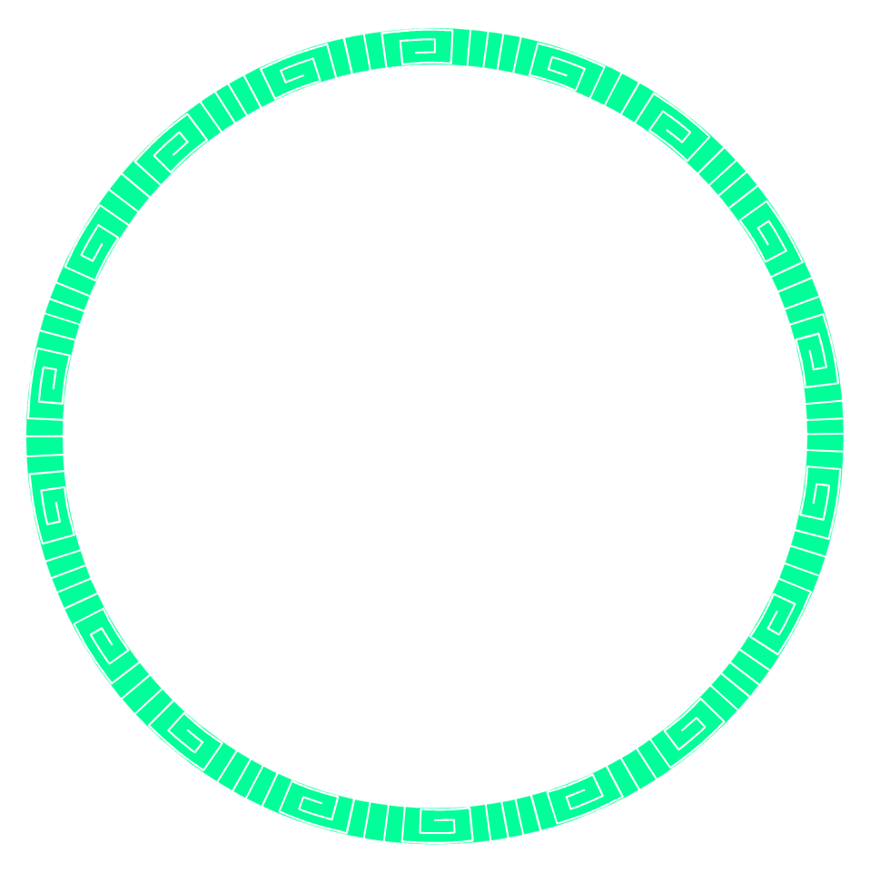 Illustrated round blank green circular frame : Free Stock Photo