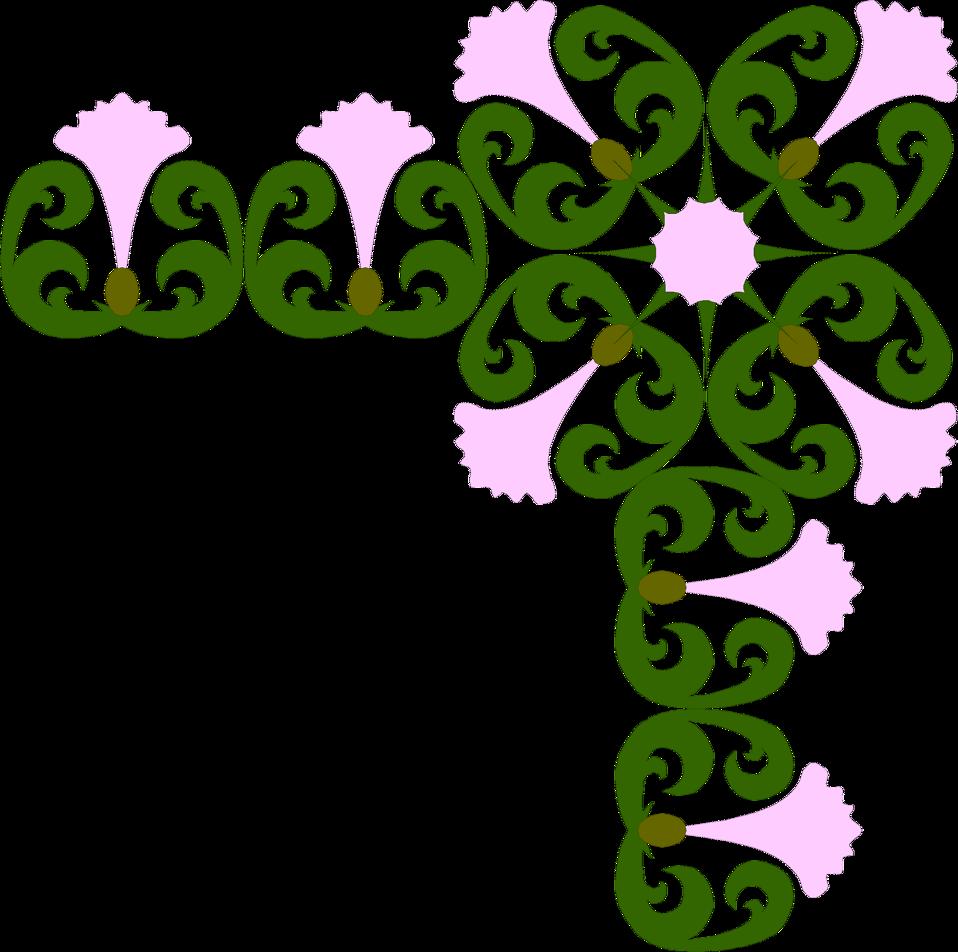 Illustration of a decorative upper right frame corner : Free Stock Photo