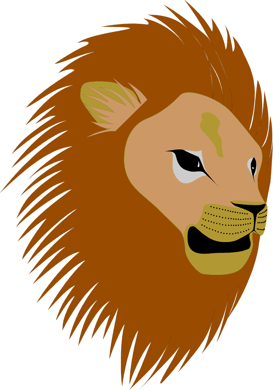 Illustration of a lions head : Free Stock Photo