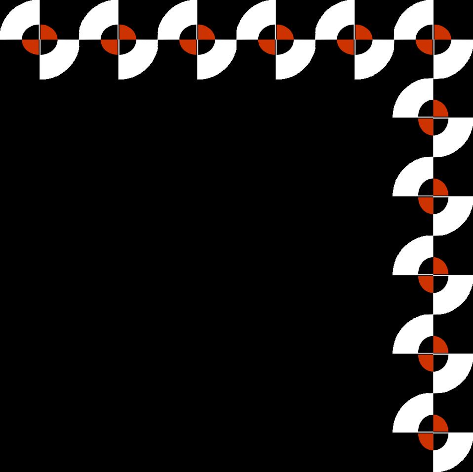Illustration of an upper right modern frame border : Free Stock Photo