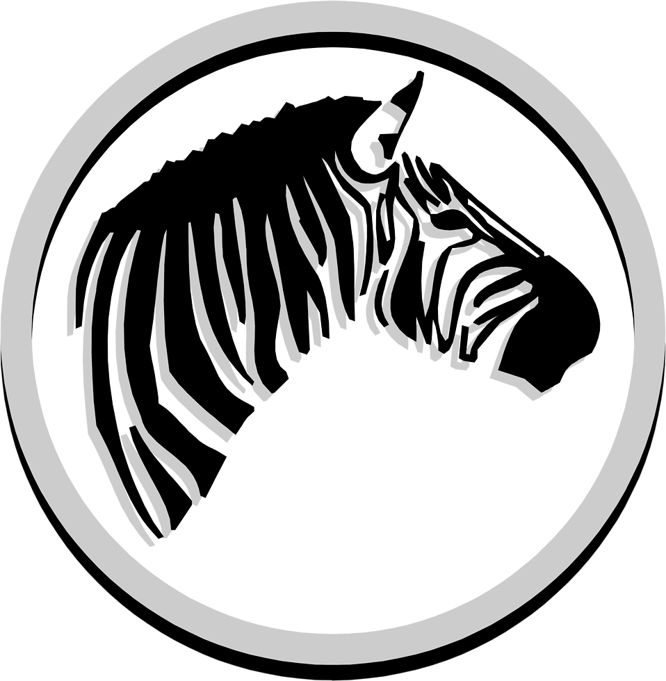 Illustration of a zebra head in a circle : Free Stock Photo