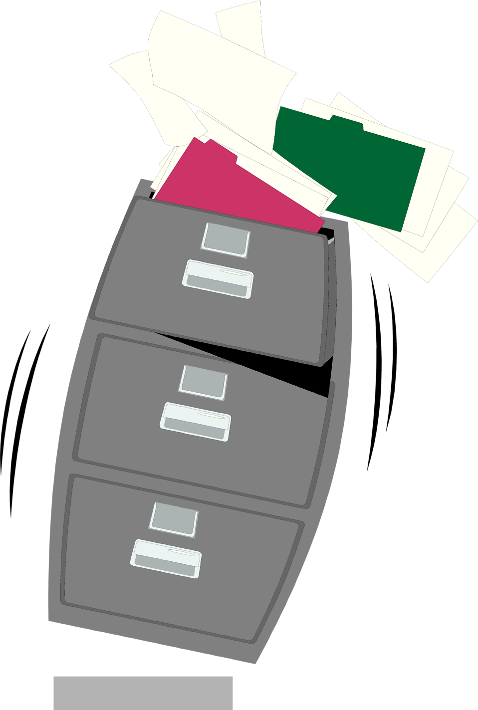 Illustration of an overflowing file cabinet : Free Stock Photo