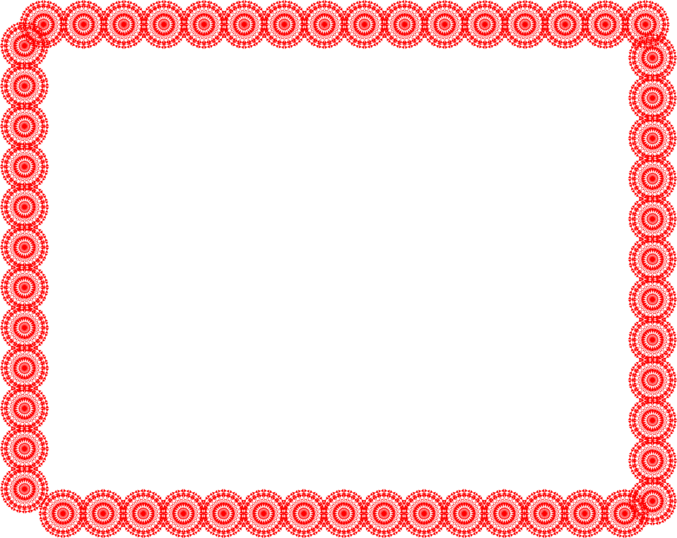 Illustration of a blank frame of red circles : Free Stock Photo