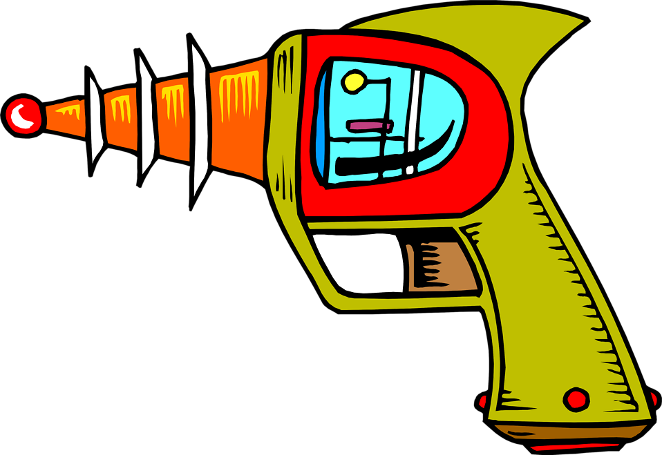 Illustration of a space gun : Free Stock Photo