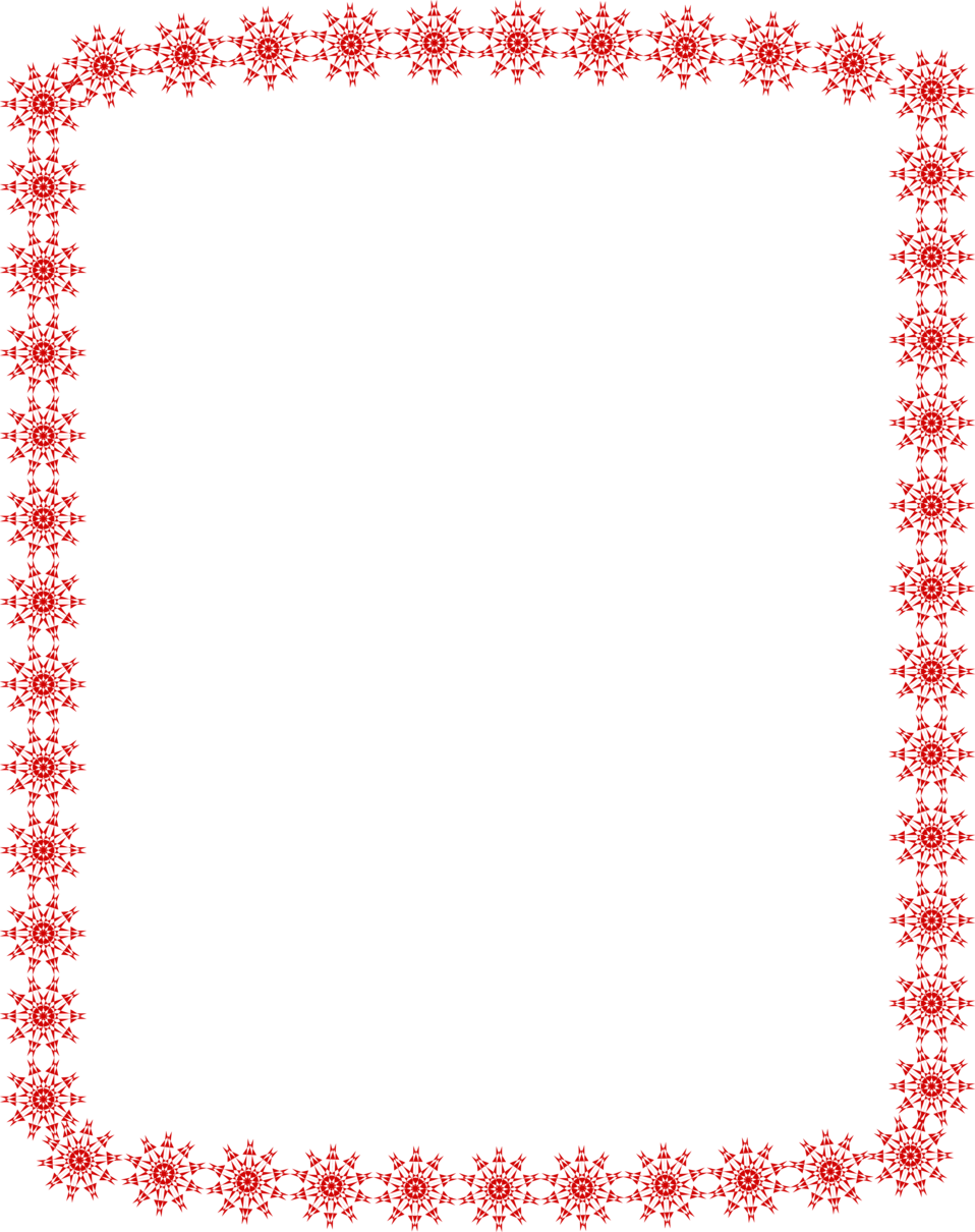 Illustration of a blank red star frame border : Free Stock Photo