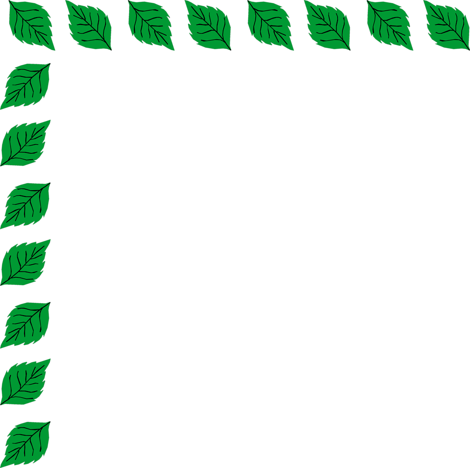 Illustration of an upper left frame corner of leaves.