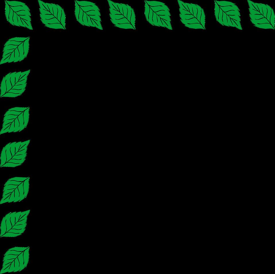 Illustration of an upper left frame corner of leaves : Free Stock Photo