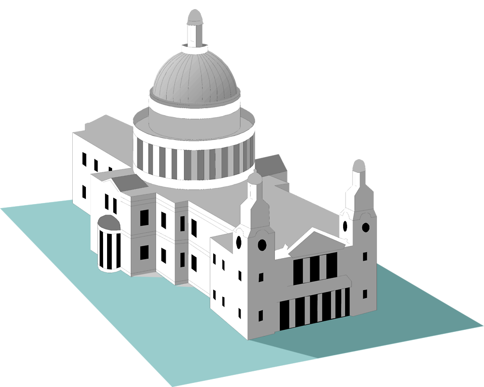 Illustration of St Pauls Cathedral : Free Stock Photo