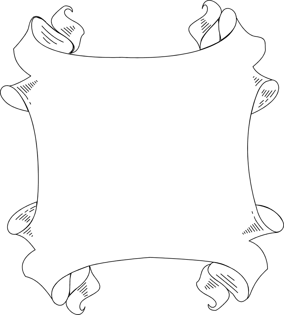 Illustration of a blank banner frame border.