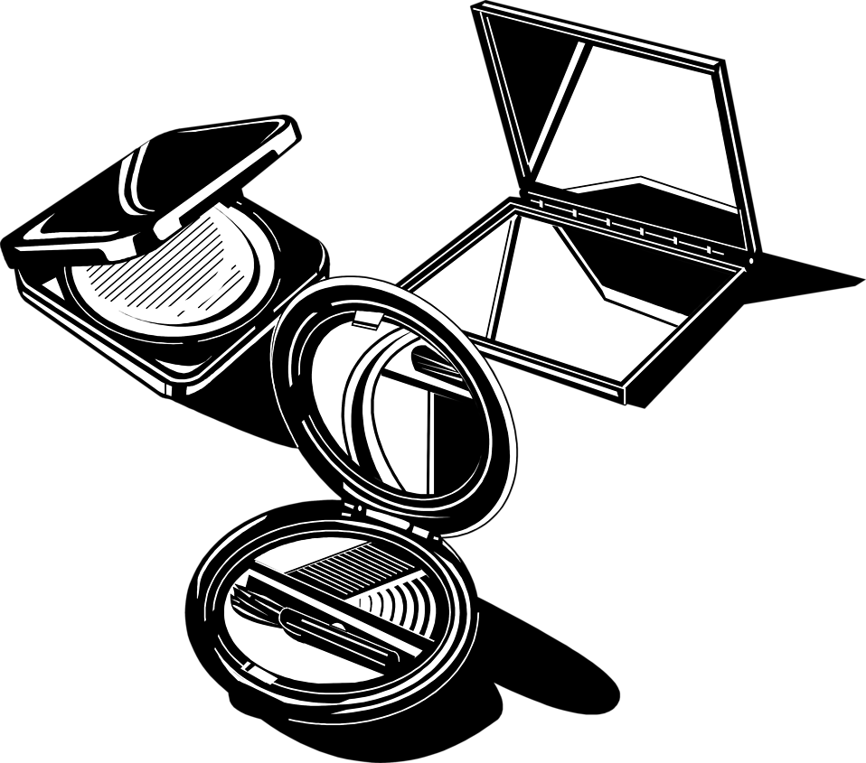 Illustration of make-up compacts : Free Stock Photo