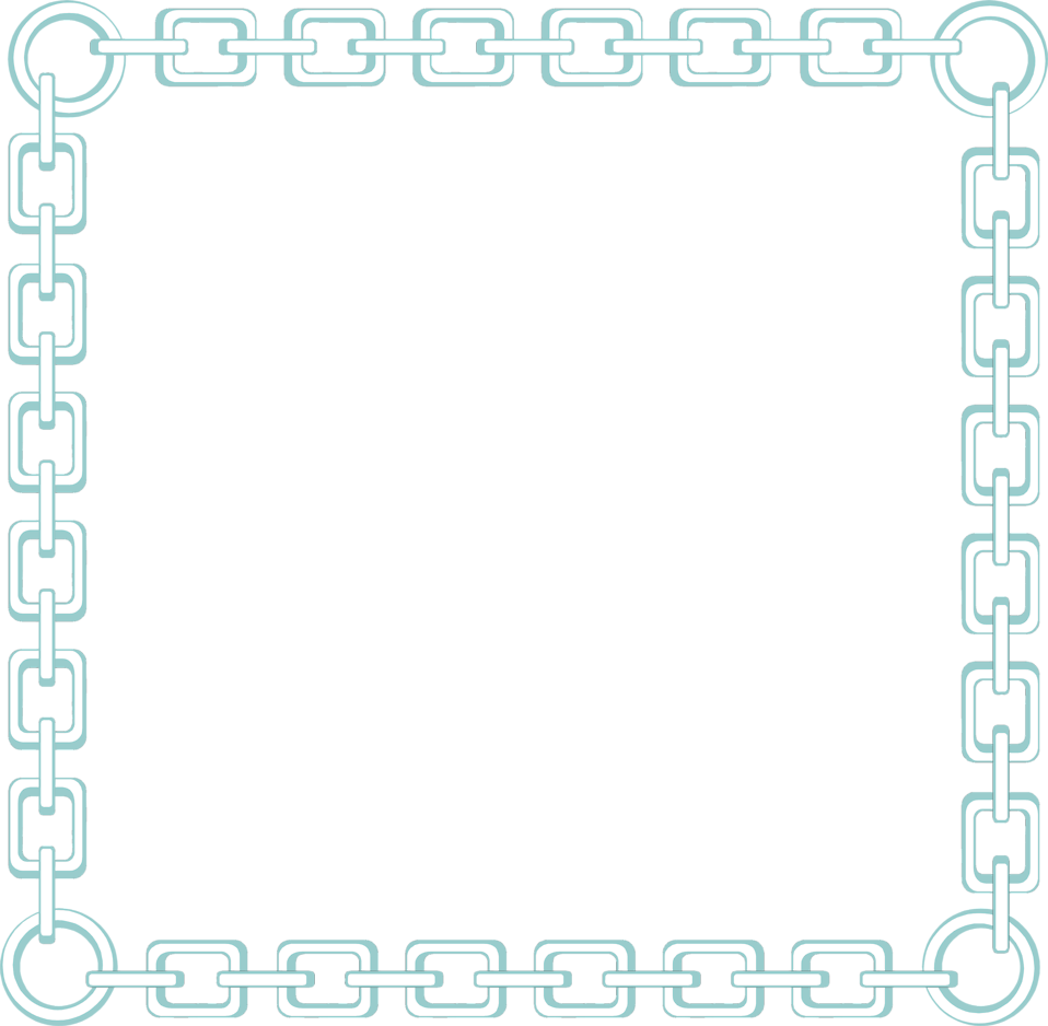 Illustration of a blank chain link frame border : Free Stock Photo