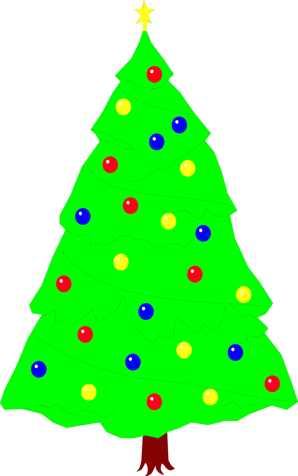 Illustration of a Christmas Tree : Free Stock Photo