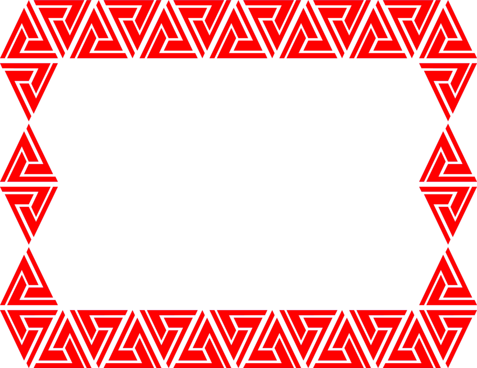 Illustration of a blank red triangular frame border : Free Stock Photo