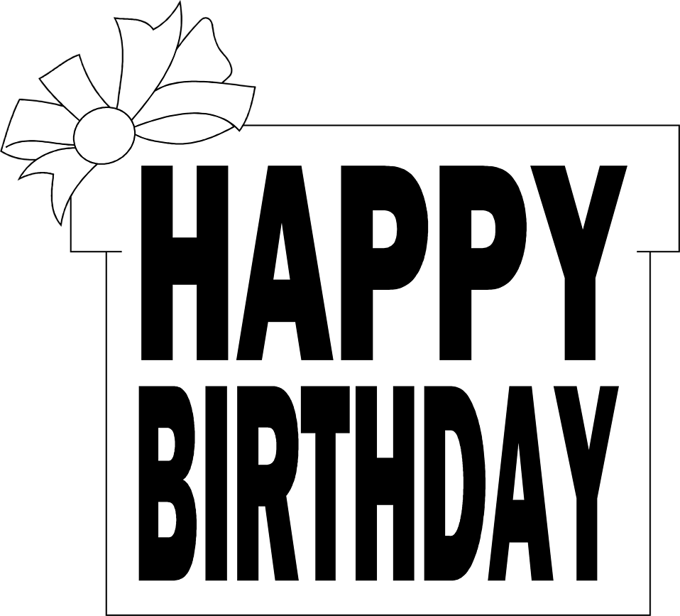 Illustration of a birthday present with text : Free Stock Photo
