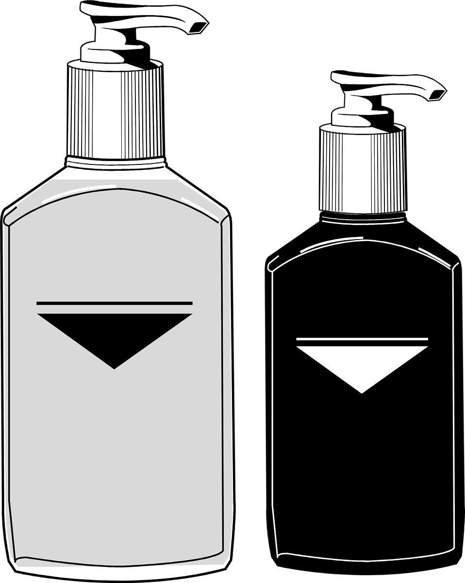 Illustration of pump bottles : Free Stock Photo