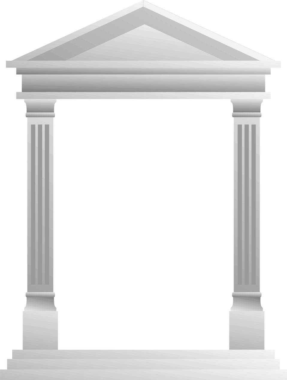 Illustration of a blank Roman pavillion frame : Free Stock Photo