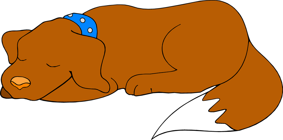 Illustration of a brown dog sleeping : Free Stock Photo