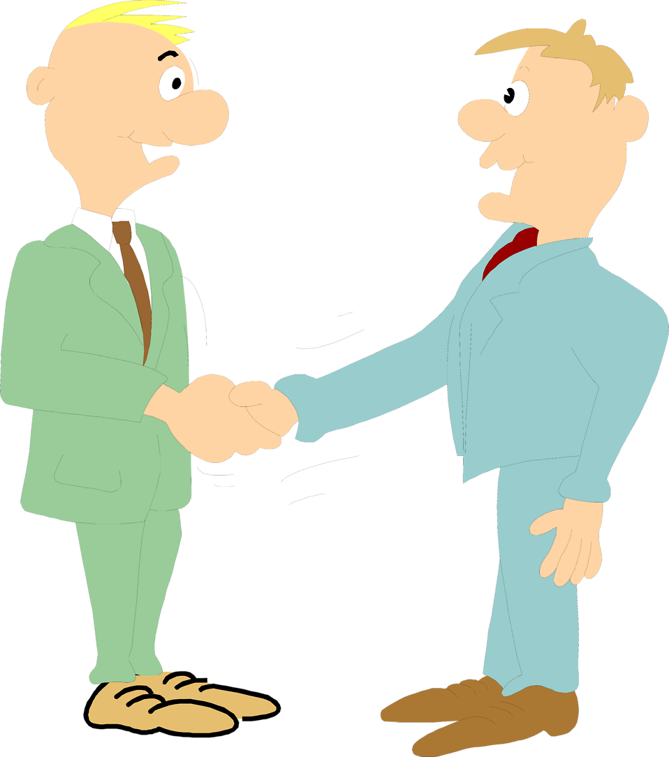 Illustration of a pair of business men shaking hands : Free Stock Photo