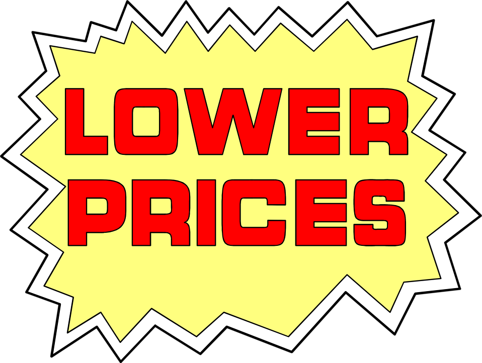 Illustration of lower prices sales text : Free Stock Photo