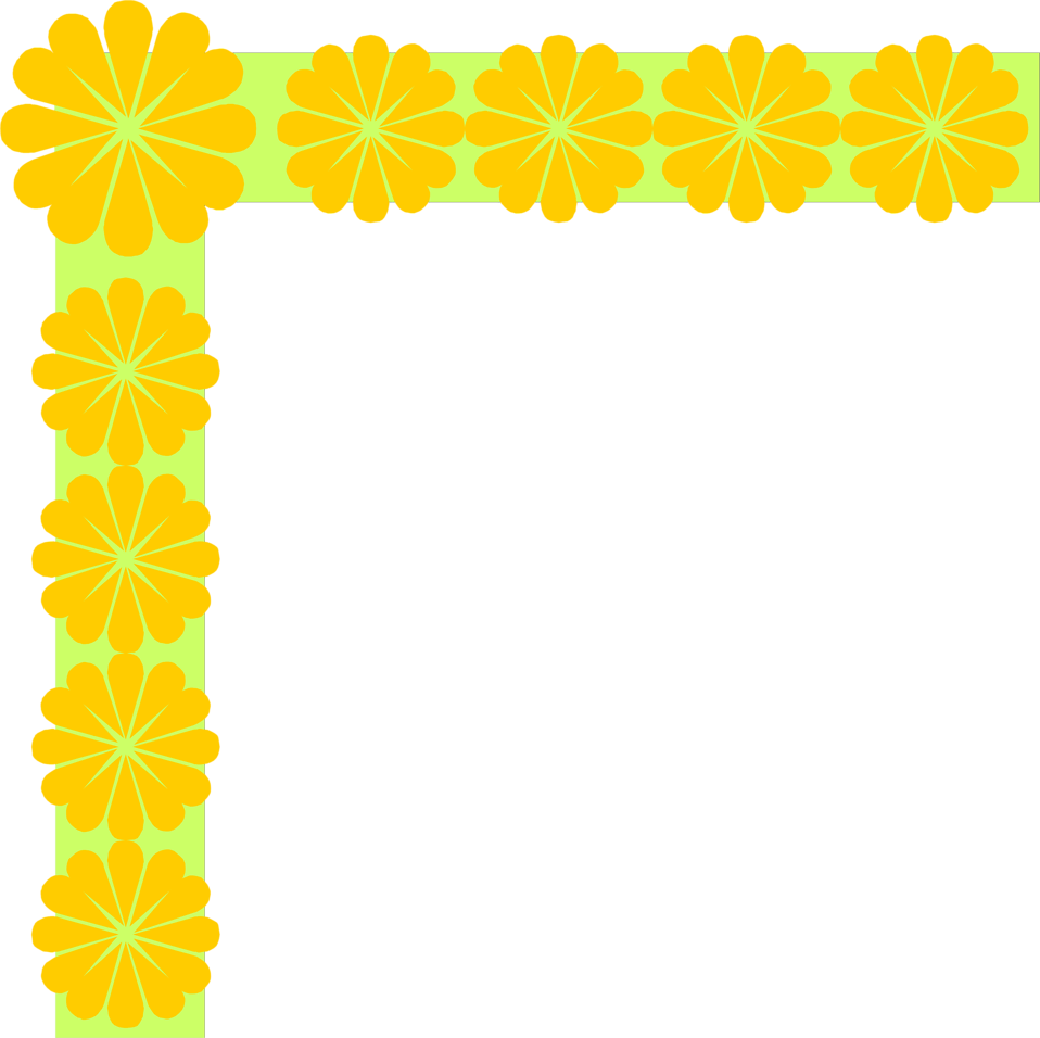 Illustration of a yellow flower upper left frame corner : Free Stock Photo