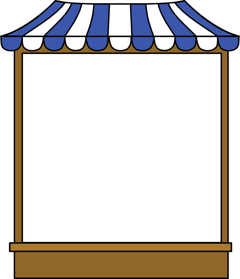 Illustration of a blank tent sign : Free Stock Photo