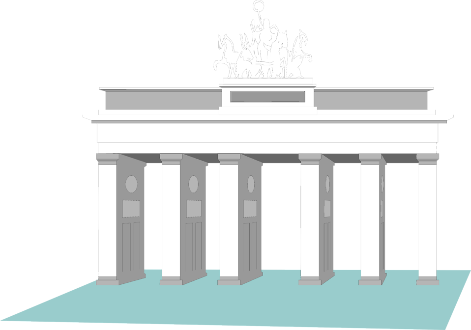 Illustration of the Brandenburg Gate in Berlin, Germany : Free Stock Photo