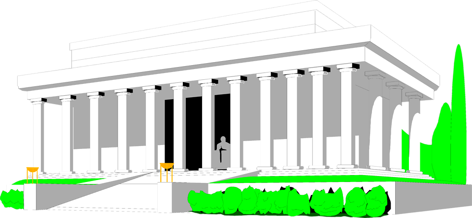 Illustration of the Lincoln Memorial in Washington DC : Free Stock Photo