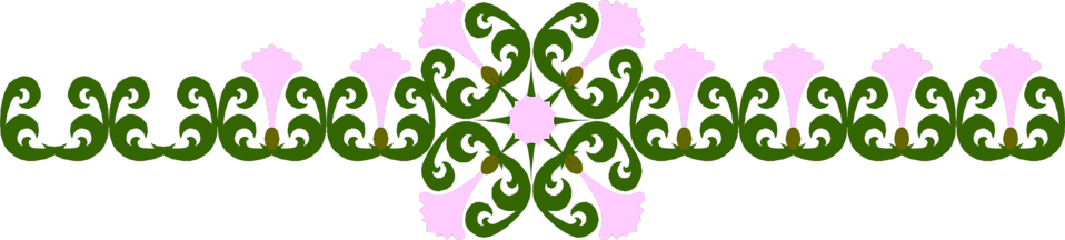 Illustration of a purple flower border : Free Stock Photo