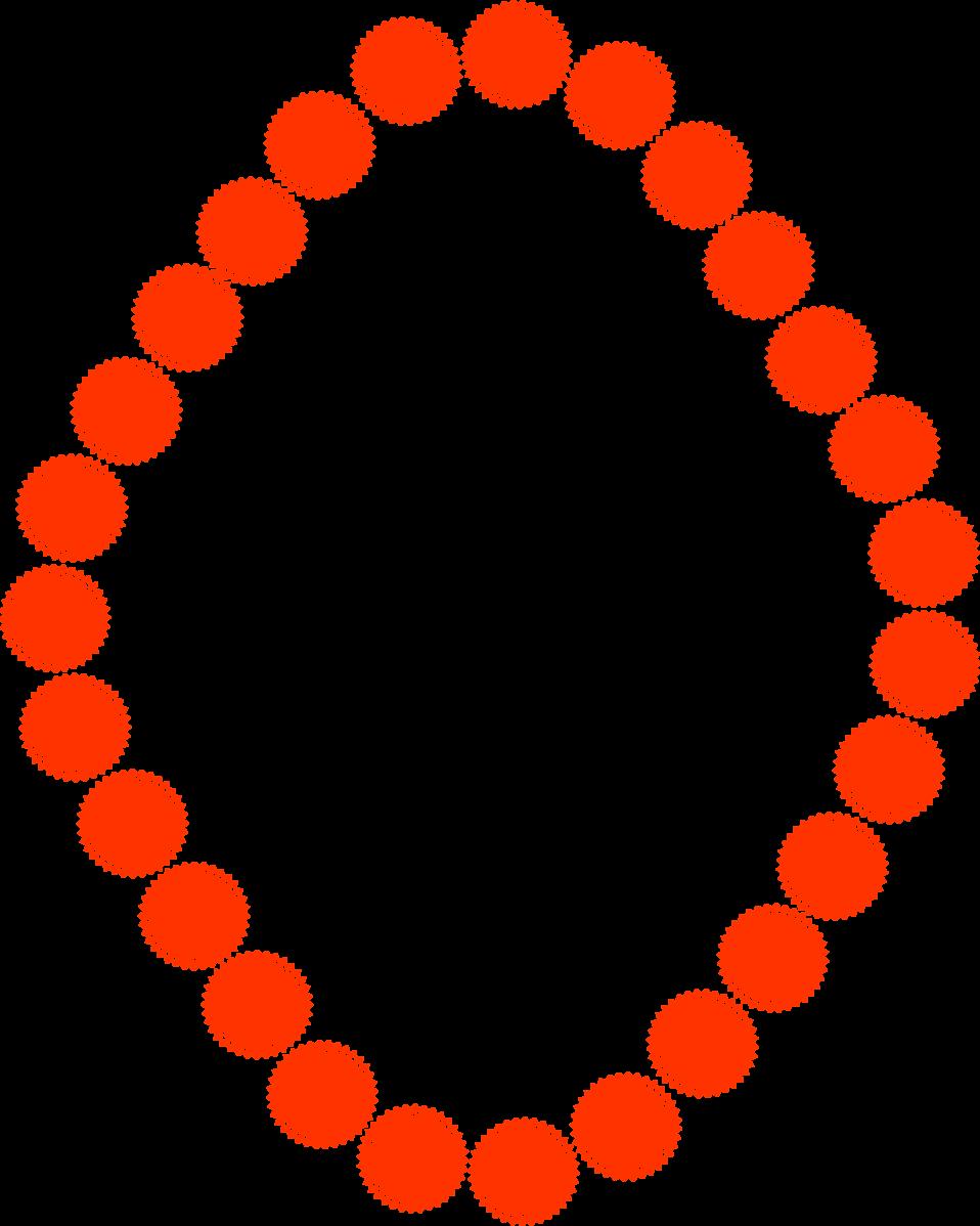 Illustration of a blank diamond shaped frame border of circles : Free Stock Photo