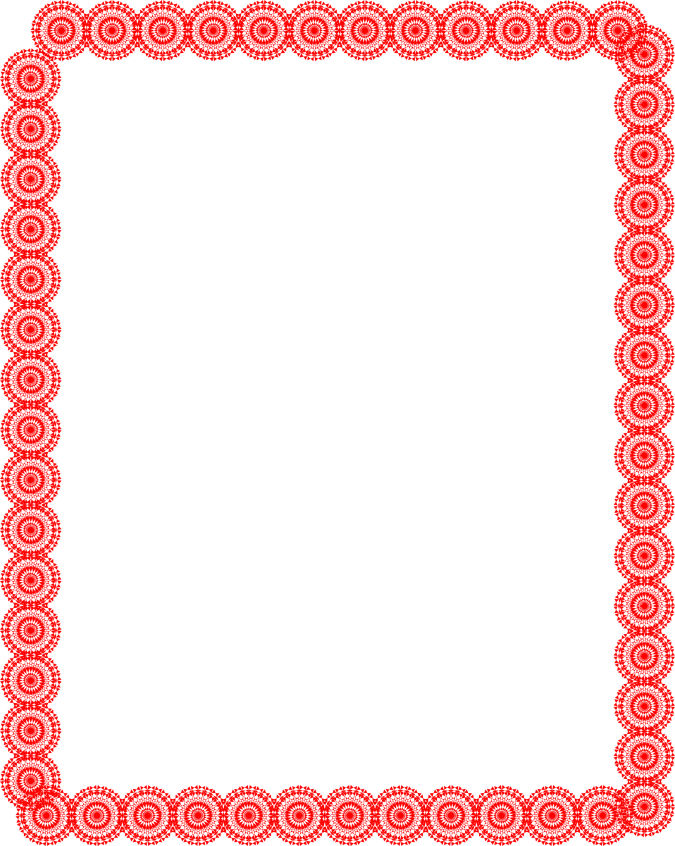 Illustration of a blank frame border of red circles : Free Stock Photo