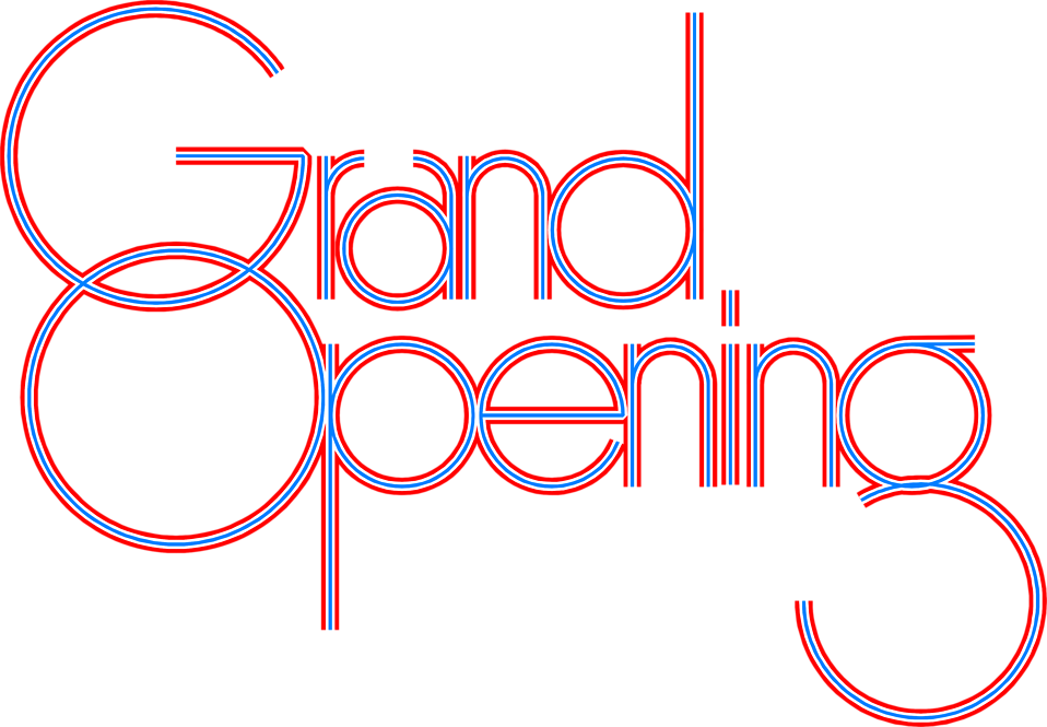 Illustration of decorative grand opening text : Free Stock Photo