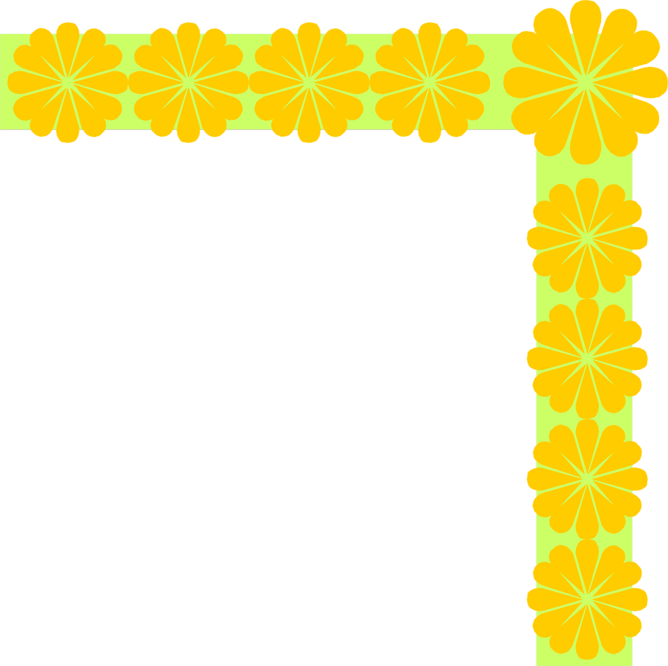Illustration of an upper right flowered frame corner : Free Stock Photo