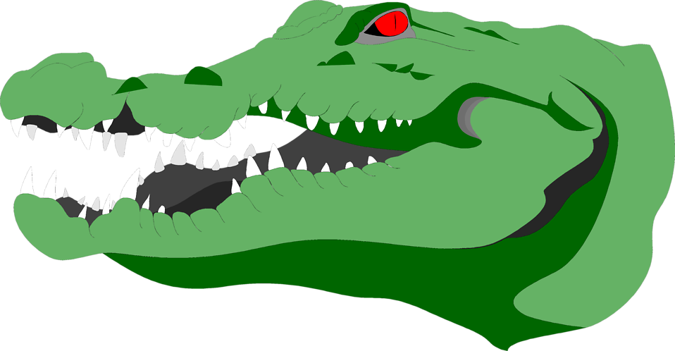 Illustration of a crocodile head  : Free Stock Photo