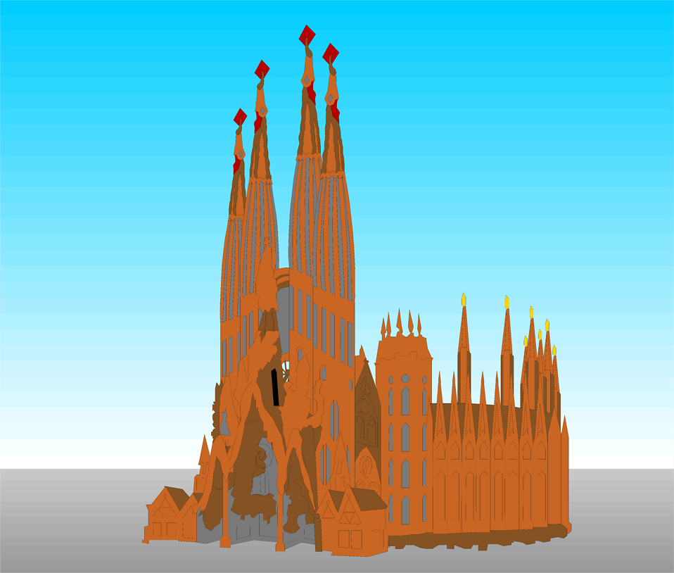 Illustration of a cathedral : Free Stock Photo