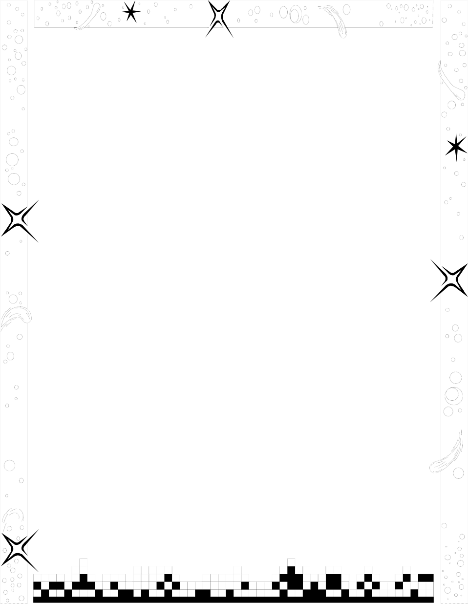 Illustration of a blank frame border with stars.