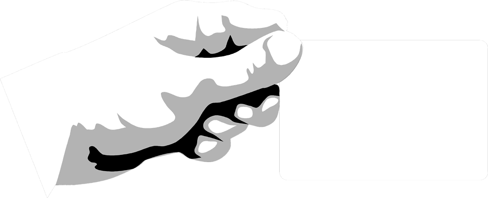 Illustration of a hand holding a blank card : Free Stock Photo
