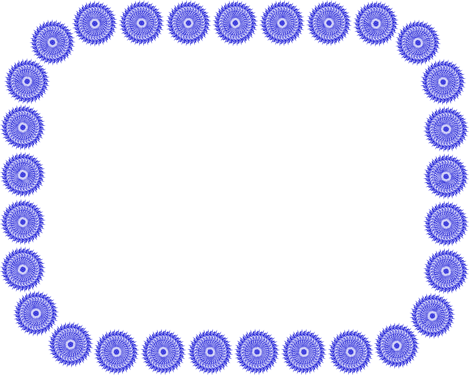 Illustration of a blank frame border of blue circles : Free Stock Photo