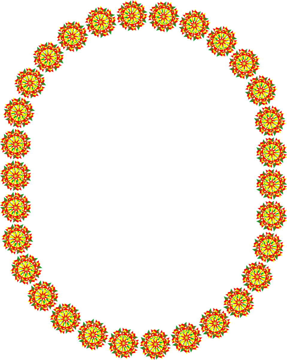Illustration of an oval blank frame of red circles : Free Stock Photo
