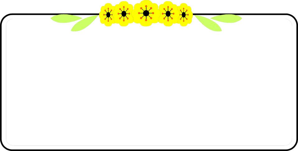 illustration of a blank frame border with yellow flowers free stock photo