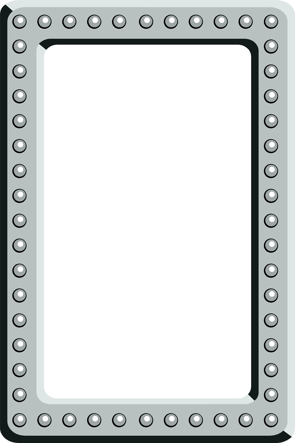 Illustration of a blank 3d frame border : Free Stock Photo