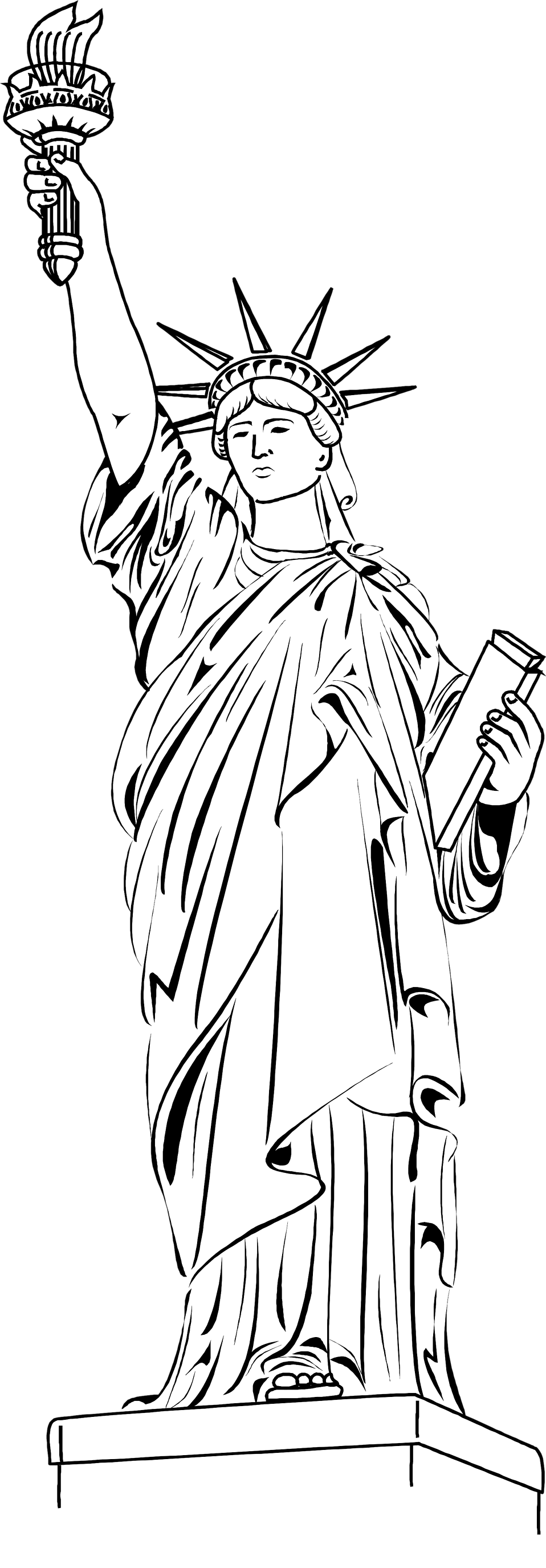 Illustration of the Statue of Liberty : Free Stock Photo